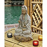 Design Toscano EU1017 Goddess Guan Yin Seated on a Lotus Statue