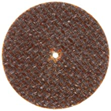 "Norton Charger Small Diameter Reinforced Abrasive Cut-Off Wheel, Type 01 Flat, Aluminum Oxide, 1/16"" Arbor, 1-1/2"" Diameter, 0.035"" Thickness, 60 Grit (Pack of 25)"