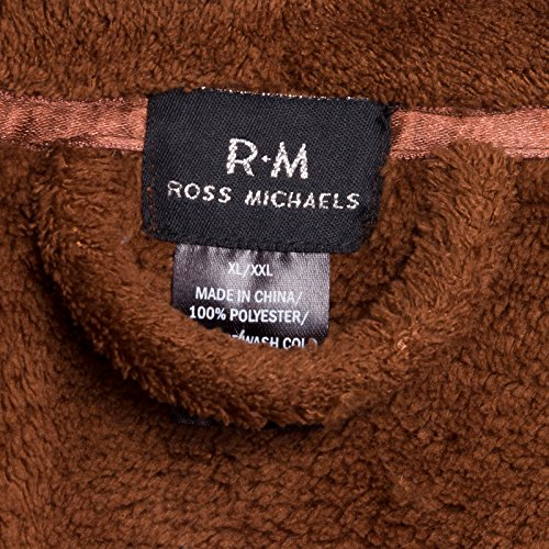 Ross michaels mens plush shawl collar kimono bathrobe robe for Bathroom decor ross