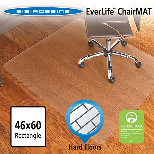 ES Robbins EverLife Hard Floor Rectangle Vinyl Chair Mat, 46 by 60-Inch, Clear es pmr хочу компютерный стол