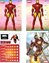Marvel Heroes Collectible Sticker Lot of 4 Iron Man