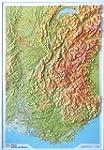 Relief Alpes/Vall�e du Rh�ne 1/375.000.