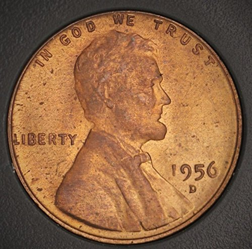 1956 D Lincoln Wheat Ears Penny 1 Cent 1956-D MS-65+ RD Red Penny MS-65+ RD Red Fiduciary Grading & Attribution (1956 D Penny compare prices)