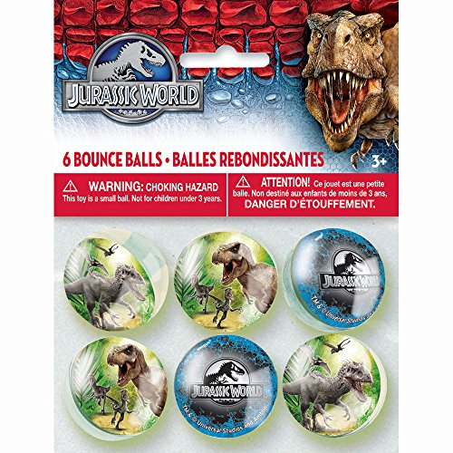 Jurassic World Bouncy Balls, 6ct - 1
