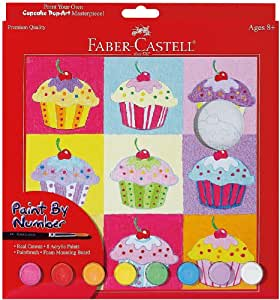 Faber Castell Faber and Castell Paint by Number Cupcake Pop Art