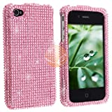 iPhone 4 Full Diamond Case - Light Pink Diamante (AT&T and Verizon)