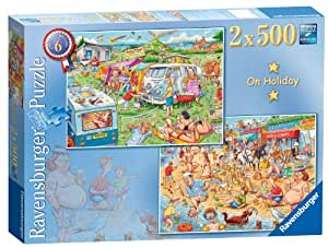 Ravensburger Best of British the Holiday Puzzle (2 x 500 Pieces)