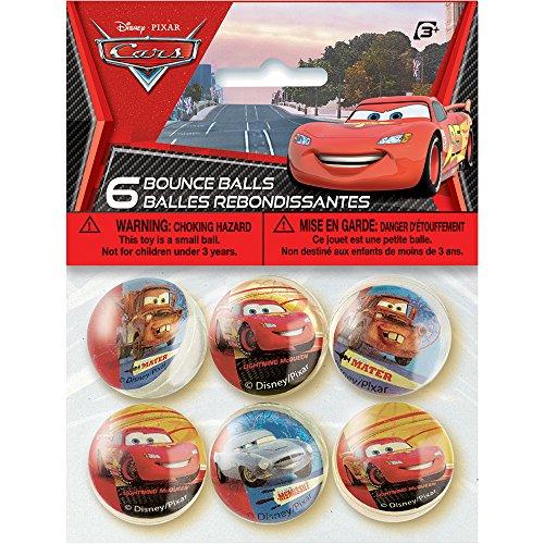 Unique Disney Cars Bouncy Ball (6 Count) - 1