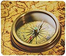 Rikki Knight Vintage Compass Lies on Ancient World Map Design Lightning Series Gaming Mouse Pad (MPSQ-RK-8859)