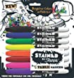 Sharpie Brush Tip Fabric Markers, 8 Colored Markers (1779005)