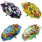 Romero Britto Compact Tote Umbrella Travel Folding Fashion Gift Rain 4 Designs !