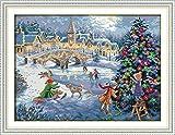 グッドバリューGood Valueクロスステッチキット 子供や初心者向け クリスマスイブー11CT 66×51cm DIY 手作り刺繍キット 正確な図柄印刷クロスステッチ 家庭刺…