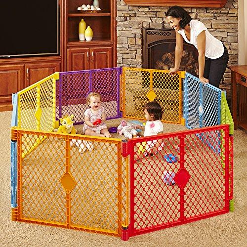 Superyard Baby Fence 8 Panel Playard Portable Weather