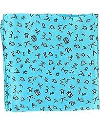 M & F Western Men\'s Branding Design Silk Wild Rag Turquoise One Size