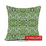 Personalized Pillow Case Cat Party Palm Green Pillow Case 20 X 20 Inch