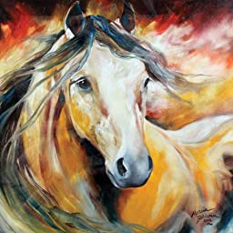 Westland Giftware Marcia Baldwin Canvas Wall Art, 15-Inch by 15-Inch, Buckskin Wild