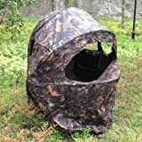 Nitehawk Pop-Up Hunting Tent with 1 Person Chair Photography Shooting Hide Blind