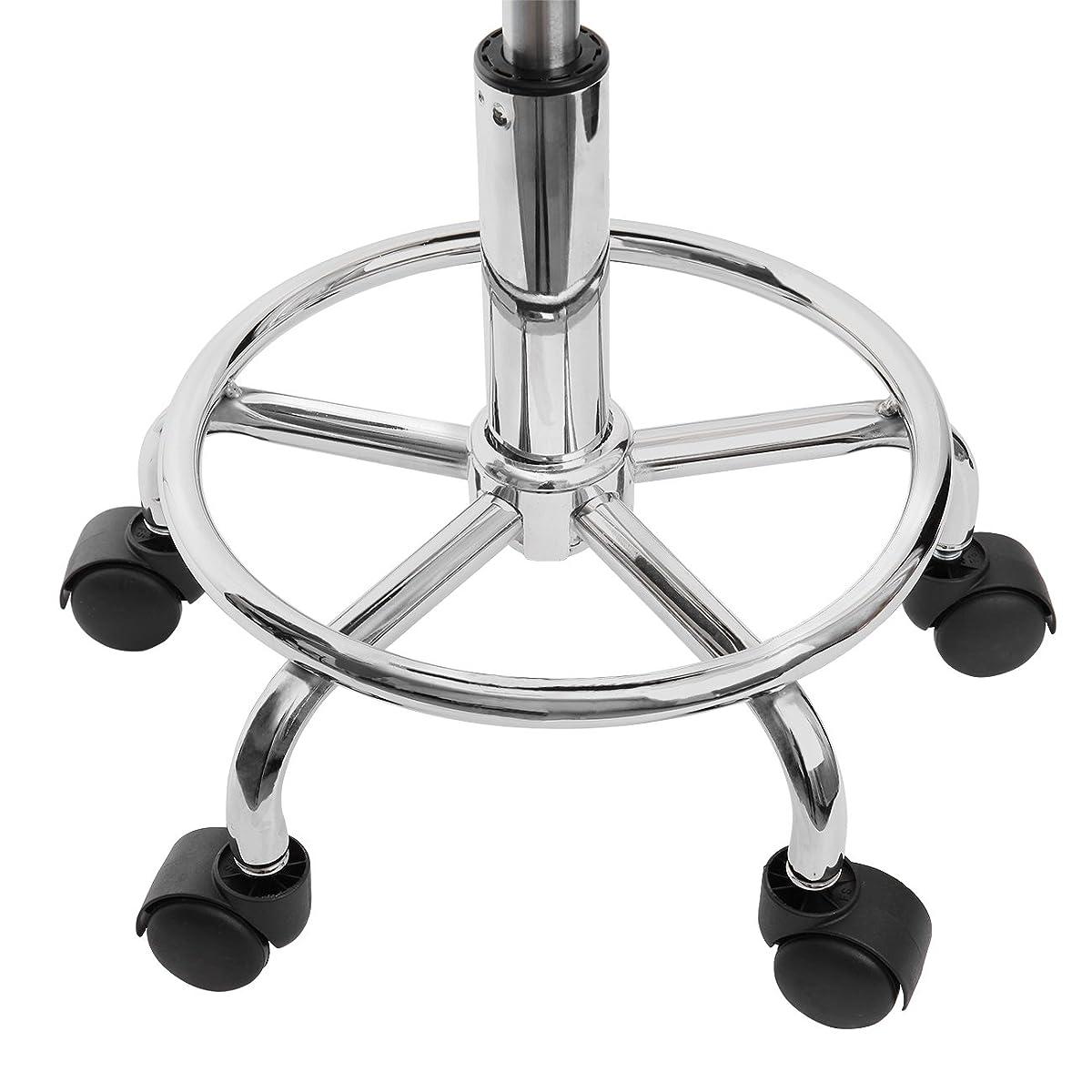 Ridgeyard Adjustable Hydraulic Saddle Rolling Chair Tattoo Facial Saddle Massage Stool Spa Salon Seat (Black)