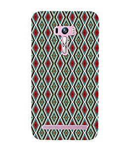 ifasho Designer Phone Back Case Cover Asus Zenfone Selfie ZD551KL ( Green Yellow Pattern Design )