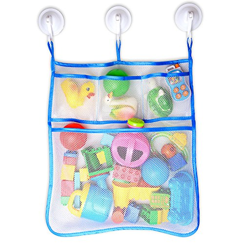 RANIACO-Large-Size-Bath-Toy-Organizer-with-3-Strong-Hooked-Suction-CupsWhite