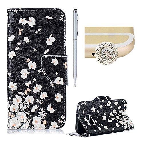SKYXD Samsung Galaxy S7 Edge Bookstyle Étui Fleur Housse Folio en Cuir Case à rabat Pour Samsung Galaxy S7 Edge Coque de Protection Portefeuille