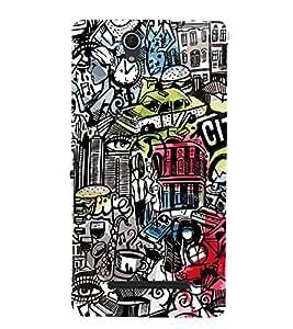 Citi Wine Disco Music 3D Hard Polycarbonate Designer Back Case Cover for Sony Xperia C3 Dual D2502 :: Sony Xperia C3 D2533