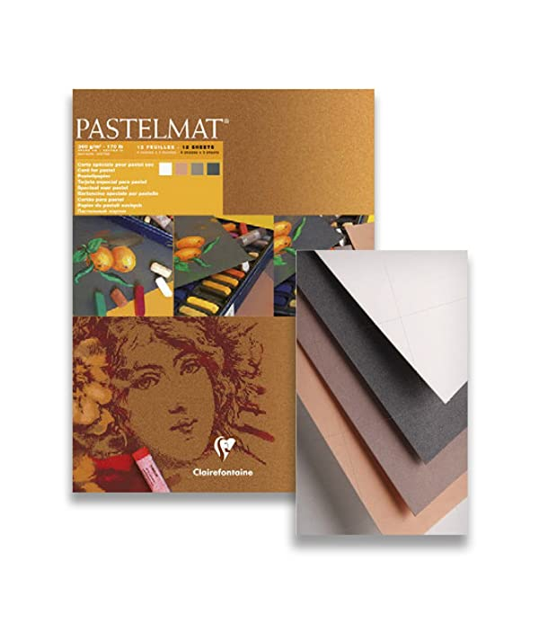 Clairefontaine 96007C Pastelmat, glued, 24x30cm, 24 x 30 cm, Assorted Colours (Color: Assorted Colours, Tamaño: 24 x 30 cm)