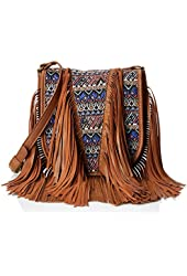 Madden Girl Mgbonita Fringe Cross-Body Bag