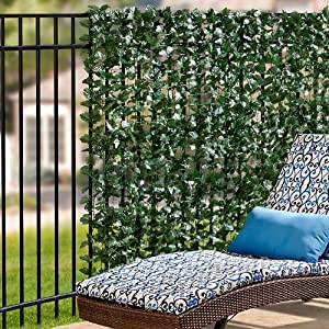 Amazon Com Faux Double Sided Leaves Privacy Screen 39 Quot X