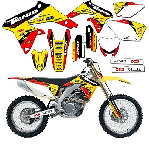 Team Racing Graphics kit for 2005-2006 Suzuki RMZ 450, EVOLV (06 Rmz 450 Parts compare prices)