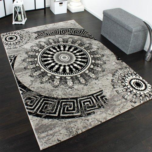 tapis-classique-a-motifs-ornements-circulaires-chine-mouchete-gris-noir-dimension120x170-cm