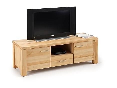 Mueble bajo para televisor de madera de haya maciza de TV de Placa de registro de banco de madera de la mesa de televisión de 146 cm