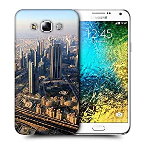 Snoogg City From Top Printed Protective Phone Back Case Cover ForSamsung Galaxy E7