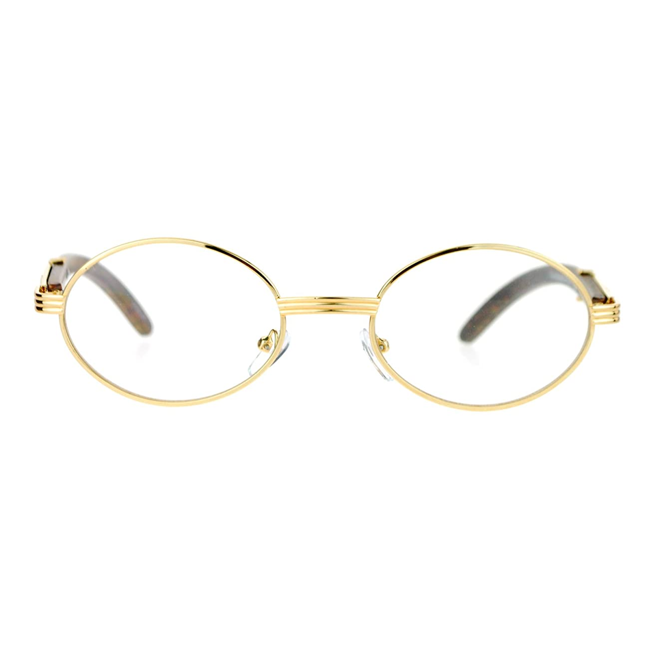 SA106 Art Nouveau Vintage Style Oval Metal Frame Eye Glasses 2