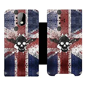 Skintice Designer Flip Cover with hi-res printed Vinyl sticker wrap-around for HTC Desire 326G