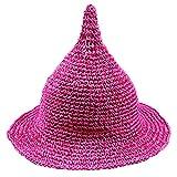 LOL2 キッズ 子供 とんがり 麦わら 帽子 ハット UV対策 日よけ カラフル (03パープル)