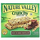 #1: Nature Valley Crunchy Granola Bars, Oat and Dark Chocolate, 252g