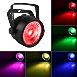 Stage Par Light, OPPSK LED Par Lights with Super Bright 30W COB RGB Tricolors Par Can by Remote DMX Control for Stage Lighting Church Wedding DJ Lights Party (Color: led par lights COB RGB)