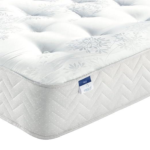 Silentnight Bexley Miracoil Orthopädische Matratze, fur Einzel-/Doppel/King Size/Super King Size-Betten, Weiß, Einzelbett