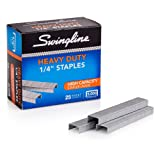 Swingline Staples, Heavy Duty, 1/4