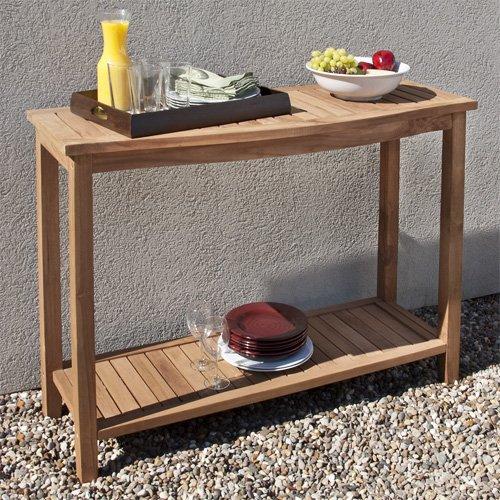 TEAK BUFFET TABLE BUFFET TABLE - Teak outdoor buffet table