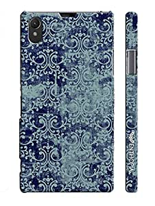 Sony Xperia Z1 THE BLUE INDIAN ART designer mobile hard shell case by Enthopia