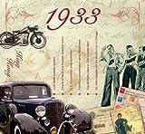 80. Geburtstag Geschenke – 1933 Chart Hits CD und 1933 Geburtstagskarte