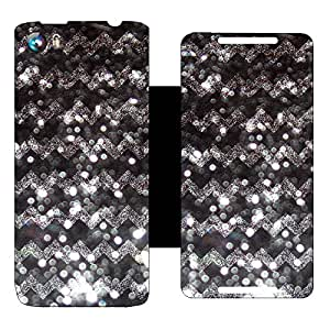 Skintice Designer Flip Cover with Vinyl wrap-around for Micromax Canvas Fire 4 A107, Design - sparkle pattern