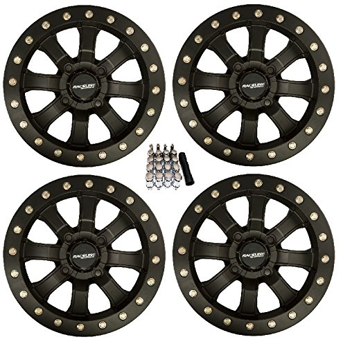 Raceline Mamba Beadlock ATV Wheels/Rims Black 14