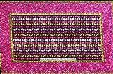 カンガ アフリカの布 花柄 『自分の失敗のこともしゃべりなさいよ』 (ピンク×黄) ua-30