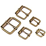 ??? Swpeet 50 Pcs Bronze Assorted Multi-Purpose Metal Roller Buckles for Belts Hardware Bags Ring Hand DIY Accessories - 1/2 Inch, 5/8 Inch, 3/4 Inch, 1 Inch, 1-1/4 Inch (Color: RollerBuckles- Bronze-50)