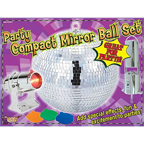 "Forum Novelties Party Compact 8"" Mirror Disco Ball Light Set front-532960"