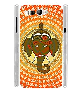 Pattern Ganesha OM Soft Silicon Rubberized Back Case Cover for Intex Aqua 3G Pro