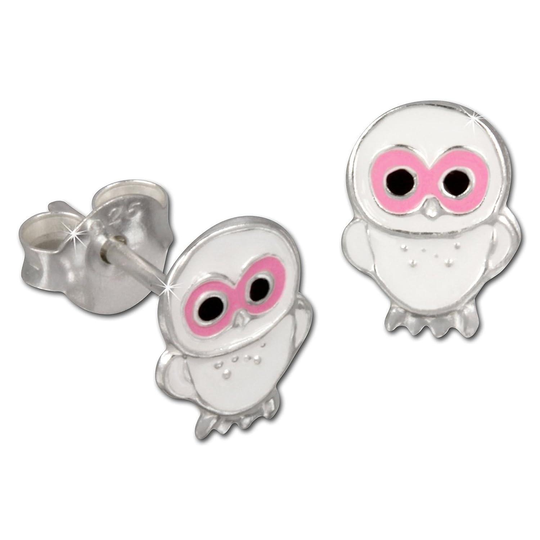 Tee-Wee Kinder Ohrring Käuzchen weiß